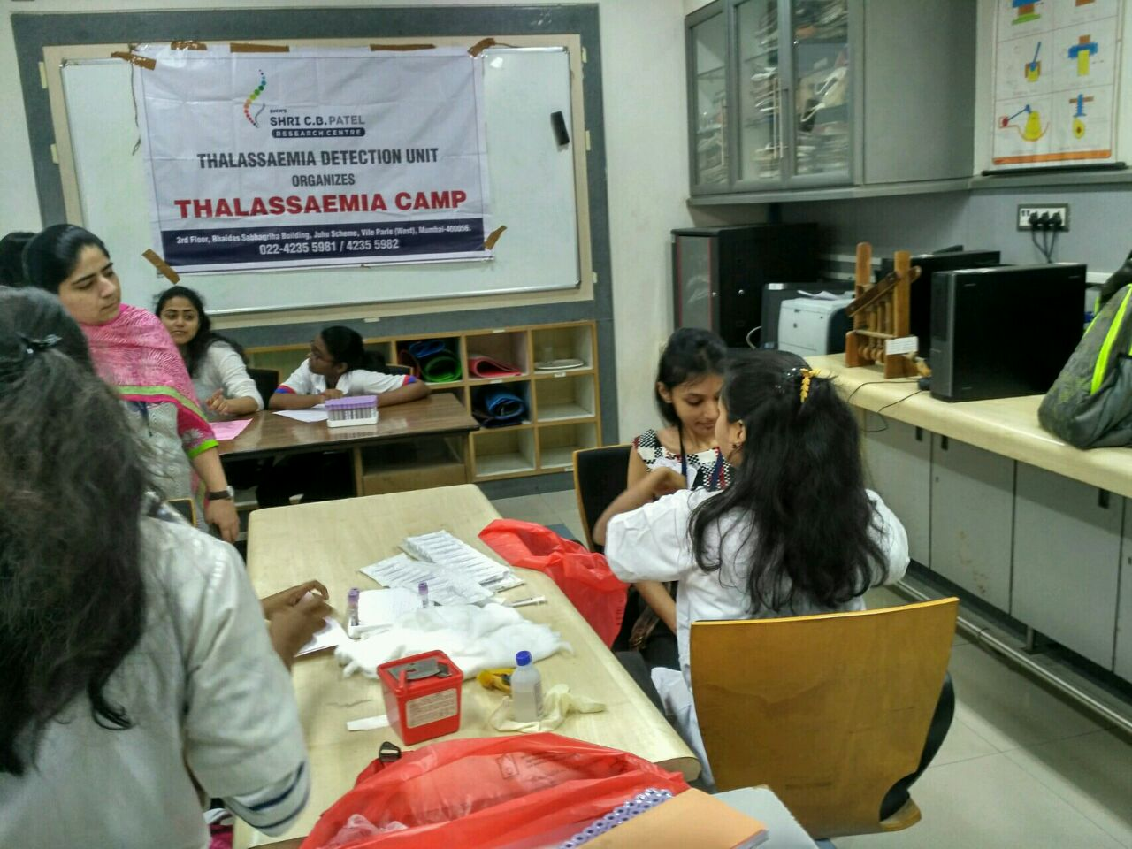 Thalassemia Detection Camp at D J Sanghavi College of Engineering, Vile Parle West, Mumbai